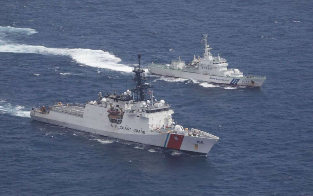 China protests US Navy, Coast Guard ships in Taiwan Strait